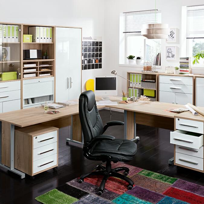 arbeitszimmer trendwerk. Black Bedroom Furniture Sets. Home Design Ideas